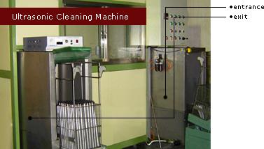 氮氣缸外管進行超音波清洗處理