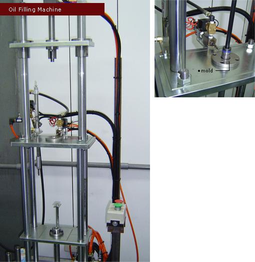 氮氣缸管內精密定量注油