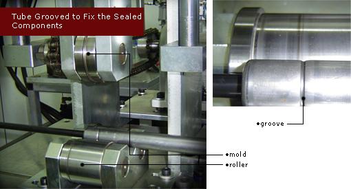 氮氣缸外管輪溝定位